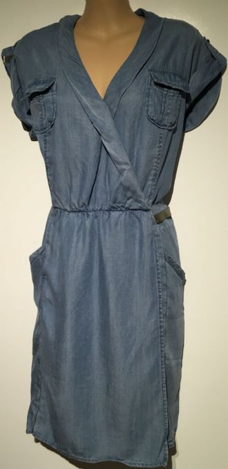 DENIM WRAP FRONT POCKET DRESS BNWT SIZES 10 & 12